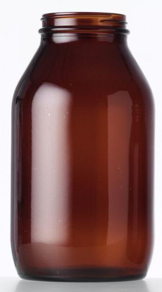 Flint Glass Amber (Brown) Glass Jars, 15ml to 500ml