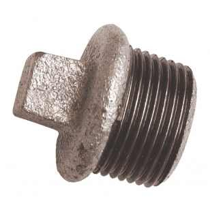 Malleable / Black Iron, EN10226 Pt.2, Blanking Plug, Hollow, Square Head, Fig.291