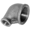 Malleable / Black Iron, EN1256, Elbow, Reducing, 90 Deg., Fig.90R