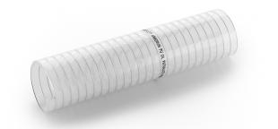 Merlett Armorvin Total PU Oil TPHF - Phthalate-Free Clear Polyurethane Hose, with Steel Spiral