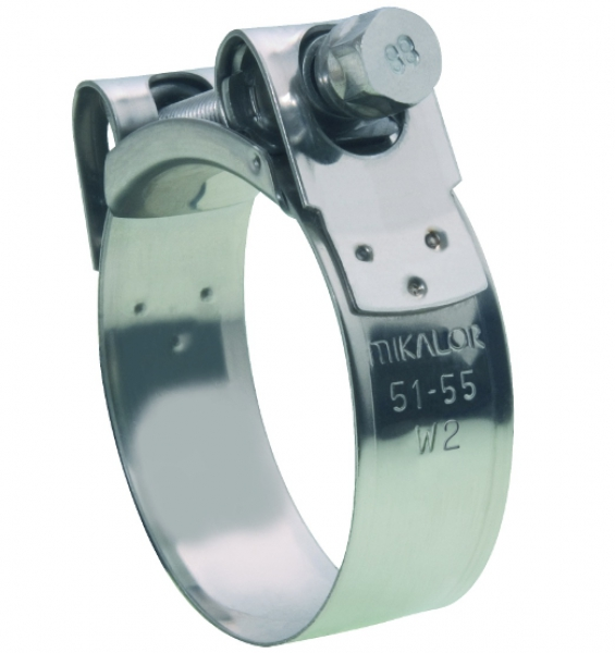 Mikalor Supra W2, High-Torque Hose Clamps, 430 Stainless Steel