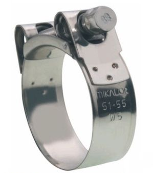 Mikalor Supra W5, High-Torque Hose Clamps, 316 Stainless Steel