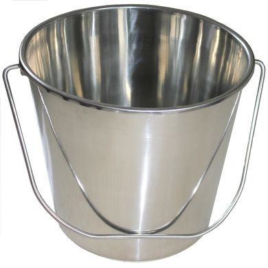 Bucket, Stainless Steel, Spun, 12L