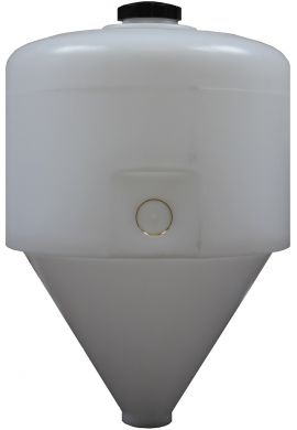 Conical / Cone Bottom, Food Grade LDPE Tank, 120 Litre
