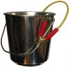 Fuel Sampling Bucket, Stainless Steel, Spun, Fitted With Grounding Cable and RACO Clip. 12L