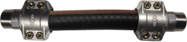Statically Bonded (ATEX), NBR/PVC, Wire & Cloth Reinforced Hose, with BSP Ends
