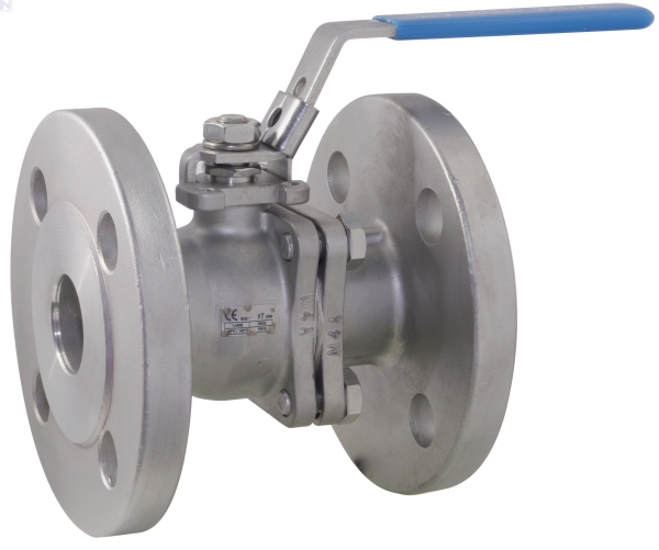 Ball Valve, Lever Handle, 316 Stainless Steel, 2-Pc BS EN 1092-1 PN16 Flanged