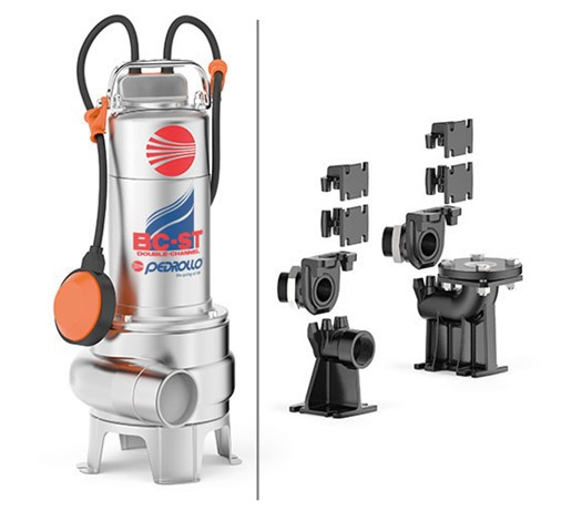 Pedrollo BC-ST Double-Channel Submersible Pump for Sewage