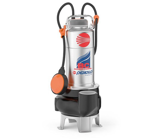 Pedrollo BC Double-Channel Submersible Pump for Sewage