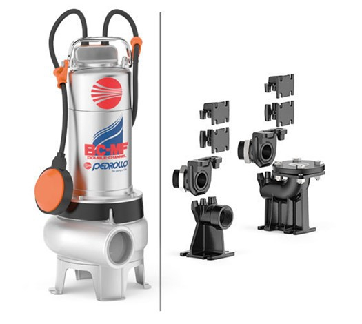 Pedrollo BC-MF Double-Channel Submersible Pump for Sewage