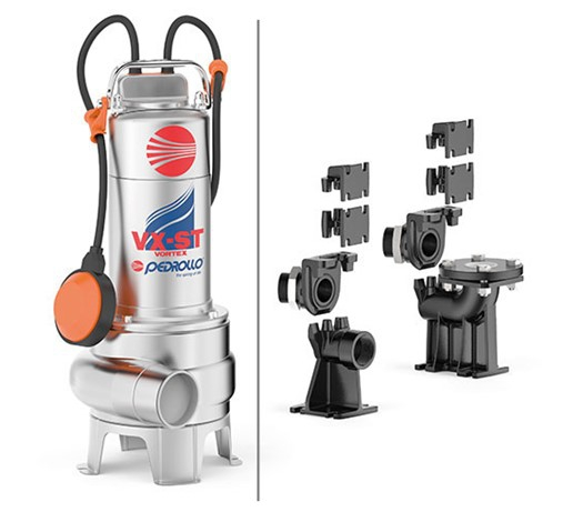 Pedrollo VX-ST VORTEX Submersible Pump for Very Dirty Water
