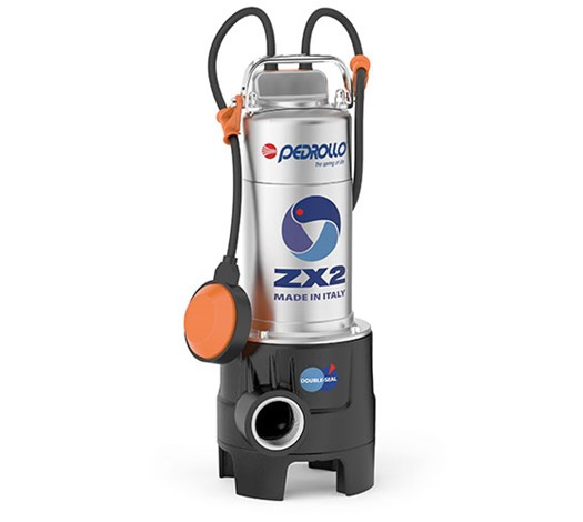 Pedrollo ZX2 Vortex Submersible Pump for Dirty Water