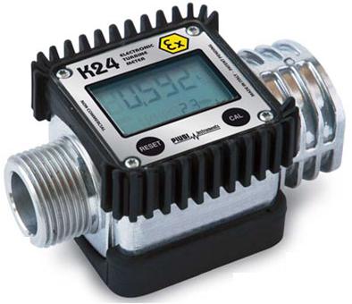 Piusi K24 Turbine Flow Meter, Aluminium, ATEX Approved