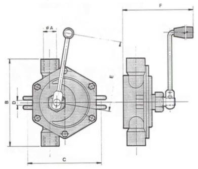 Pompe Voltana V2 INOX Rotary Hand Pump, ATEX Approved