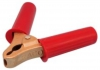 RACO Cast Brass Earthing Clip, Large, 25-50mm2, 500AMP, Red Handle