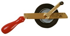 Richter Dipping Tape, Brass Frame, White Enamel Steel Tape, NOT IPM APPROVED