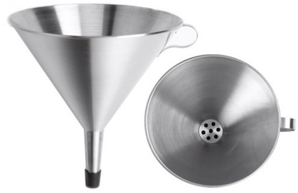 Funnel, Stainless Steel, Fitted with Strainer