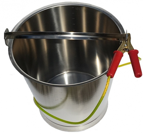 Fuel Sampling Bucket Stainless Steel With Bottom Band