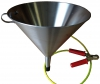 Fuel Sampling Funnel, Stainless Steel, Fitted with Grounding Cable and RACO Clip