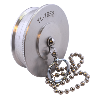 """Gammon TL-1652, Dust Plug, Aluminum, With Chain, for 2"""" Dry Break Coupler"""