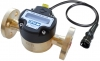 Technoton DFM Digital LCD Fuel Meter, With Pulse-Out for Marine Engine Fuel Consumption, Brass, Flanged