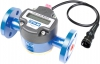 Technoton DFM Digital LCD Fuel Meter, With Pulse-Out for Marine Engine Fuel Consumption, Painted Aluminium, Flanged