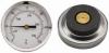 Magnetic Thermometer / Temperature Gauge, 0-120 Celcius