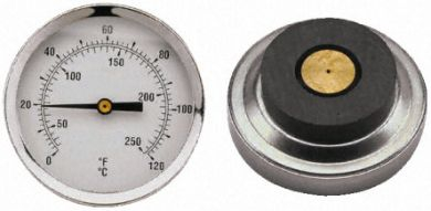 Magnetic Thermometer / Temperature Gauge, 0-120 Celcius