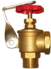 Angle Flow Valve (Lockable), Brass
