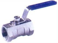 Ball Valve, Lever Handle, 316 Stainless Steel, 1-Pc FF, BSP