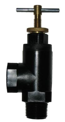 W L Hamilton Pressure Relief Valve, Adjustable 0-250PSI, Nylon