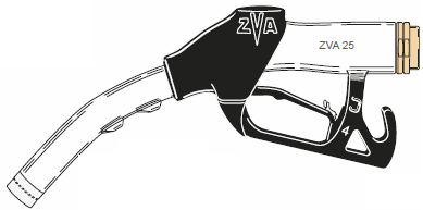 ZVA 25, Automatic High-Flow Fuel Dispensing Nozzle (140 lpm), ATEX Approved