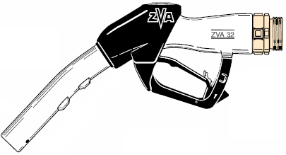 ZVA 32, ATEX Approved Automatic High-Flow Fuel Nozzle (200 lpm)