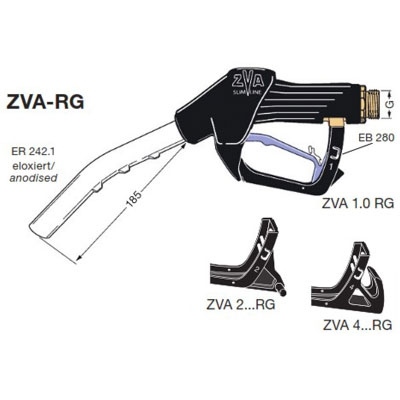 ZVA Slimline RG, Automatic Chemical Nozzle (60 lpm), ATEX Approved