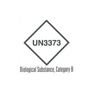 CLASS 6.2 (BIOLOGICAL SUBSTANCE CATEGORY B - UN3373) HAZARD LABEL (50MM X 50MM), Roll of 250