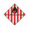 CLASS 4.1 (FLAMMABLE SOLID) HAZARD LABELS (100MM X 100MM), Roll of 250
