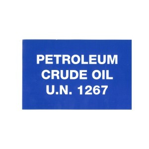 PRODUCT LABEL UN 1267 (PETROLEUM CRUDE OIL), Roll of 20