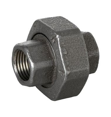 // Union BSP Black Malleable Iron Union Pipe Fitting
