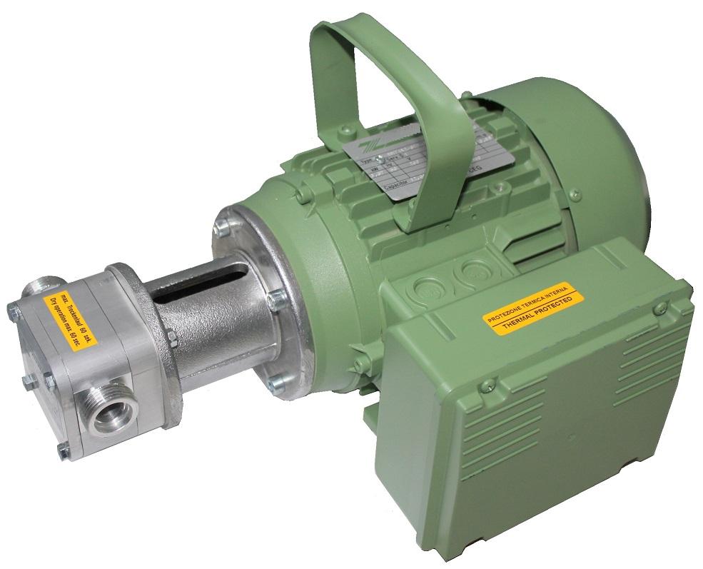 Atex Flexible Impeller Pumps Motor Driven Aluminium